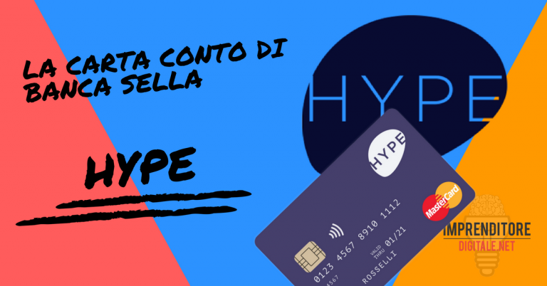 hype carta conto banca sella
