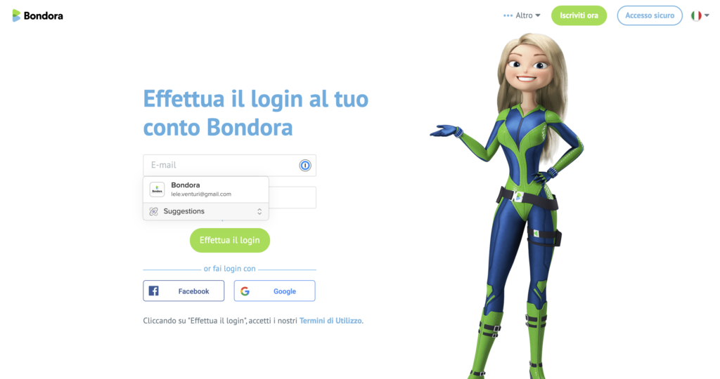 Bondora: l'homepage