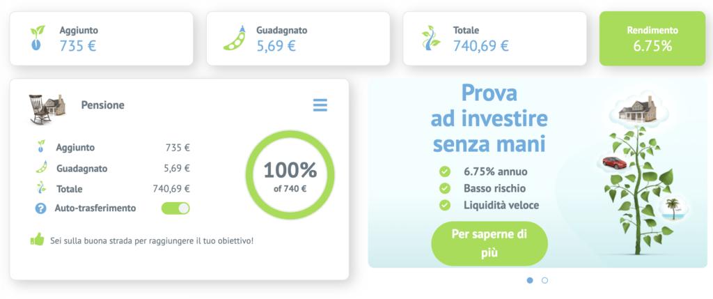 Schermata di Bondora Go&Grow