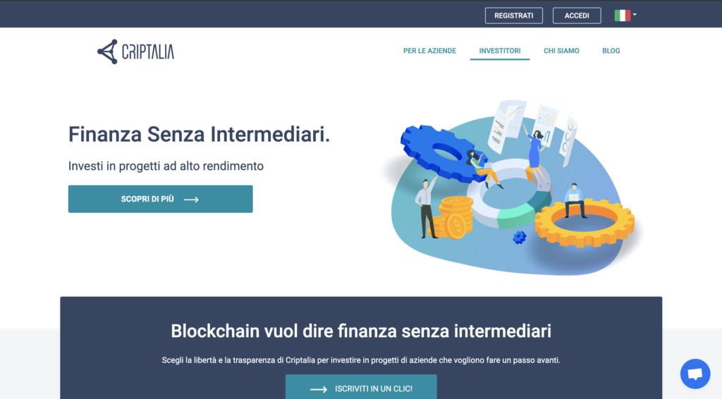 home page di criptalia